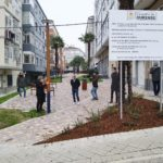 visita do alcalde ás obras de humanización da Milagrosa